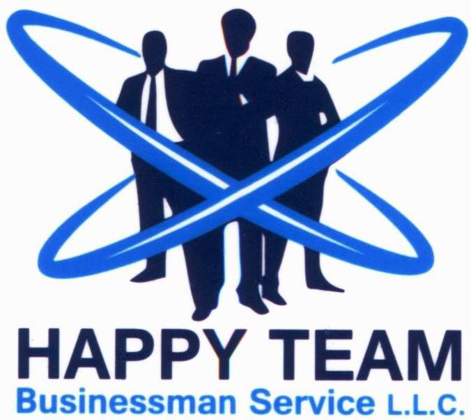 Happy team business man service