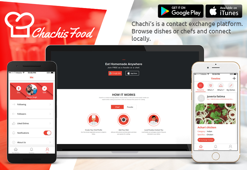 Chachi's Food: Homemade food ordering app in USA